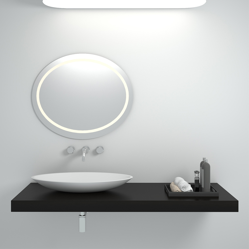 Solid surface resin stone counter top basin BS-8326