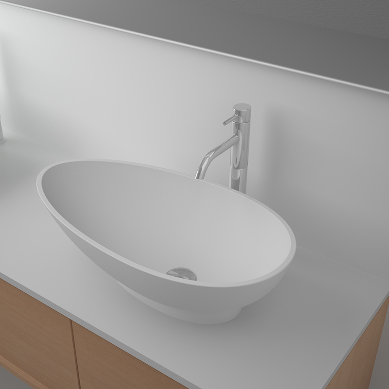 Solid surface resin stone counter top basin BS-8328