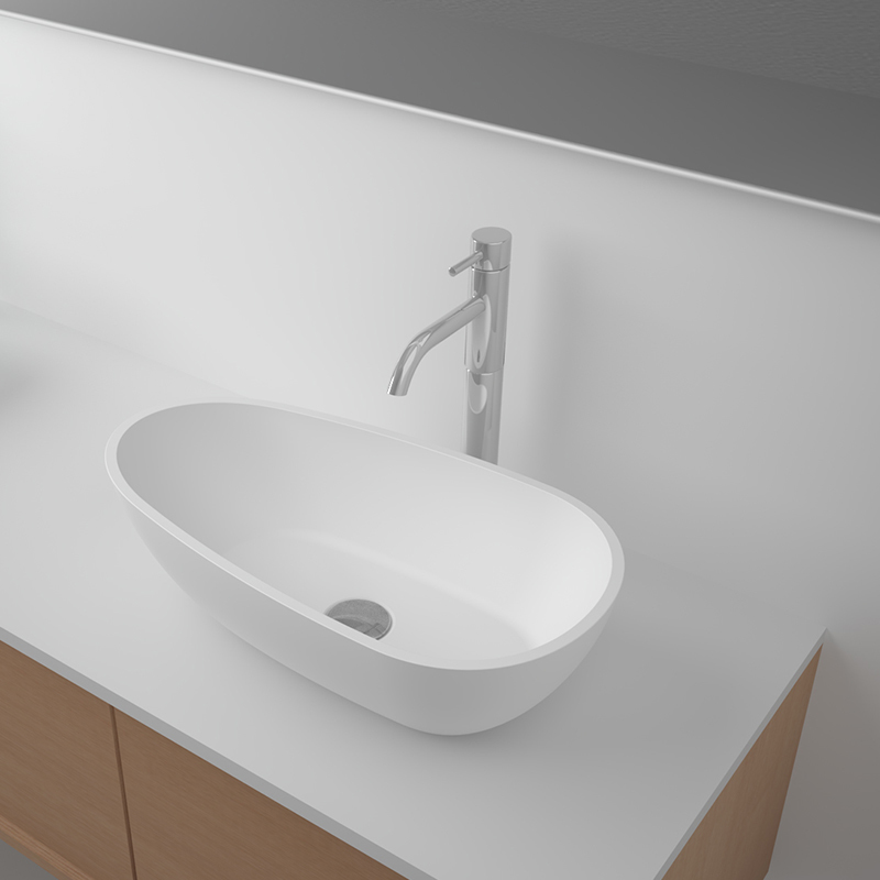 Solid surface resin stone counter top basin BS-8332