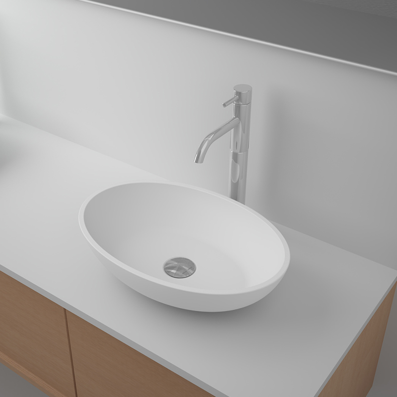 Solid surface resin stone counter top basin BS-8333