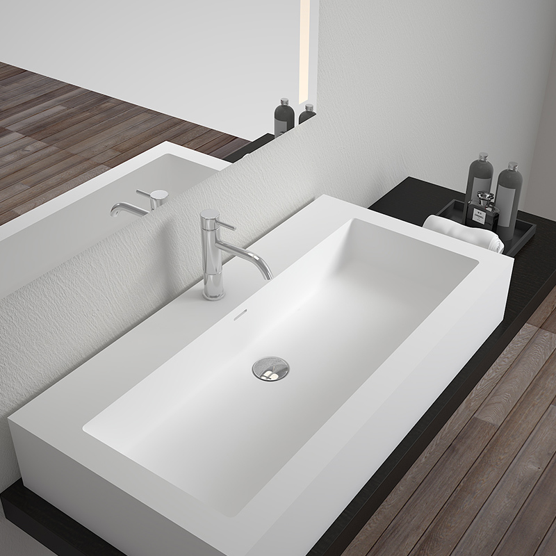 Solid surface resin stone counter top basin BS-8334A