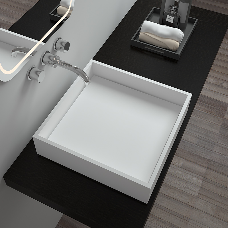 Bellissimo-Solid Surface Resin Stone Counter Top Basin Bs-8336 | Wash Basin