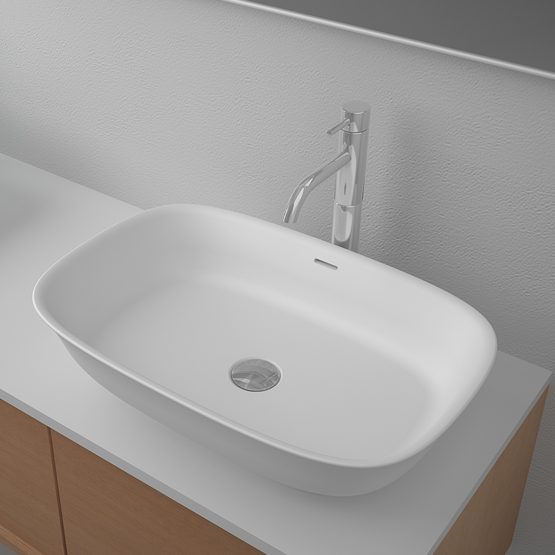Solid surface resin stone counter top basin BS-8337