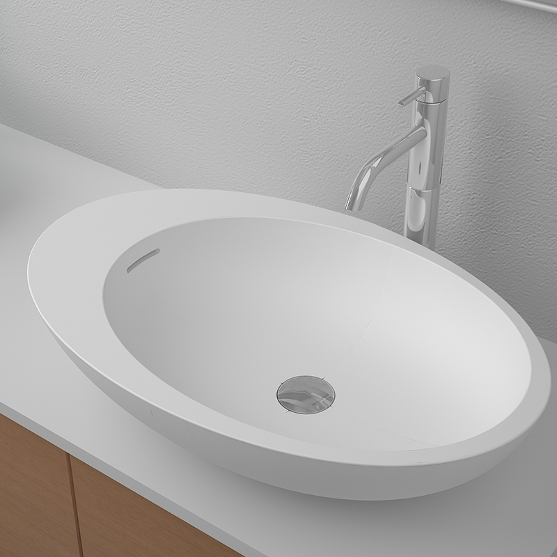 Bellissimo-Solid Surface Resin Stone Counter Top Basin Bs-8339 | Countertop