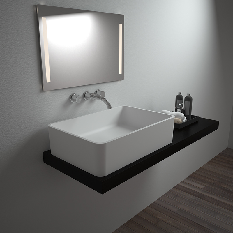 Solid surface resin stone counter top basin BS-8340