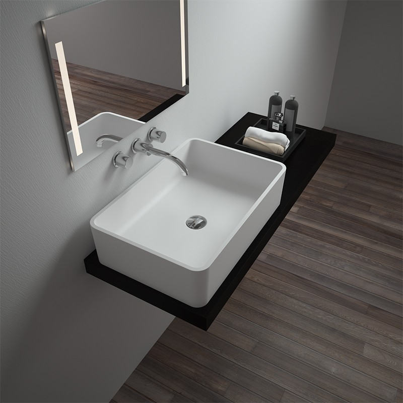 Bellissimo-Solid Surface Resin Stone Counter Top Basin Bs-8340 | Countertop
