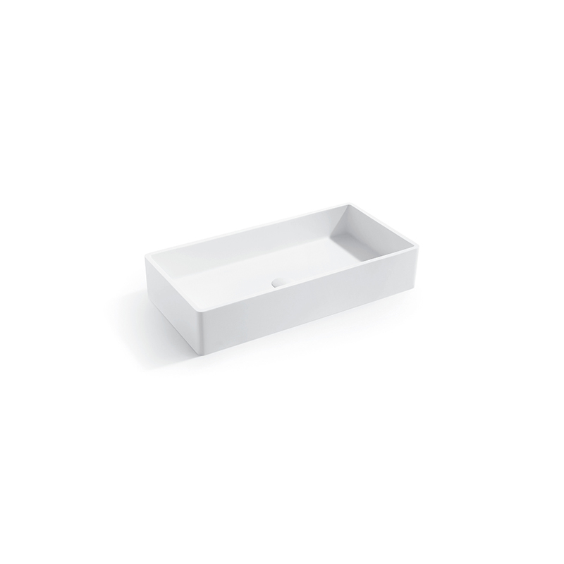 Solid surface resin stone counter top basin BS-8340B