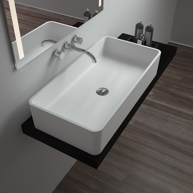 Bellissimo-Solid Surface Resin Stone Counter Top Basin Bs-8340b Supplier