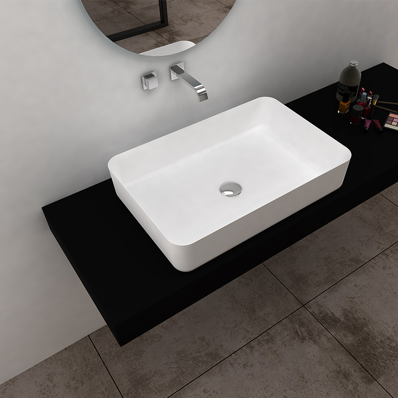 Bellissimo-Solid Surface Resin Stone Counter Top Basin Bs-8349 | Solid Surface