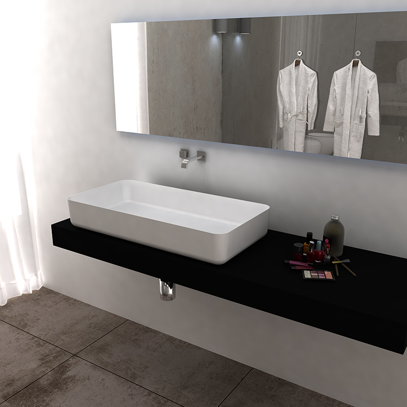 Solid surface resin stone counter top basin BS-8350