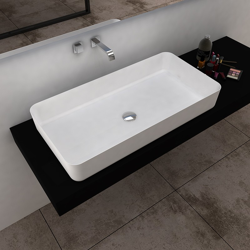 Bellissimo-Solid Surface Resin Stone Counter Top Basin Bs-8350 Manufacture