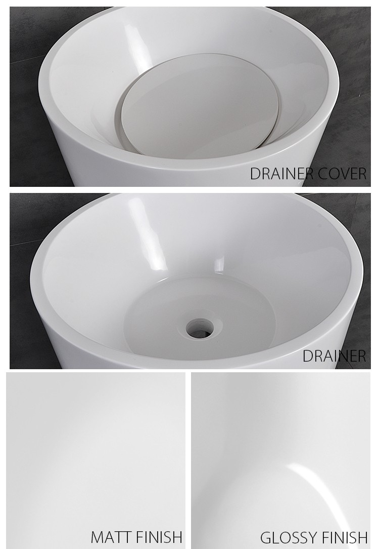 Bellissimo-Find Solid Surface Resin Stone Freestanding Basin Bs-8508