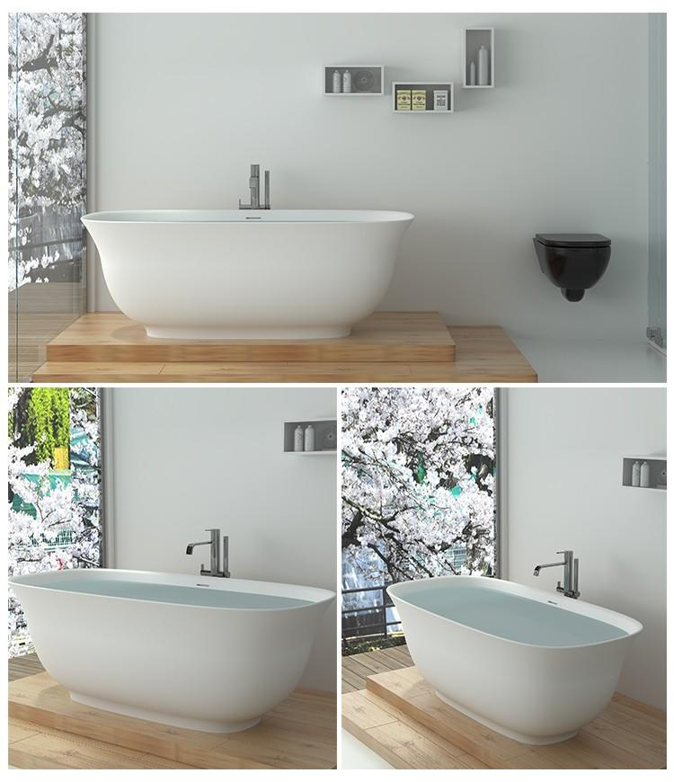 Bellissimo-High-quality Solid Surface Resin Bathtub Bs-8643 | Solid Surface Bathtub-2