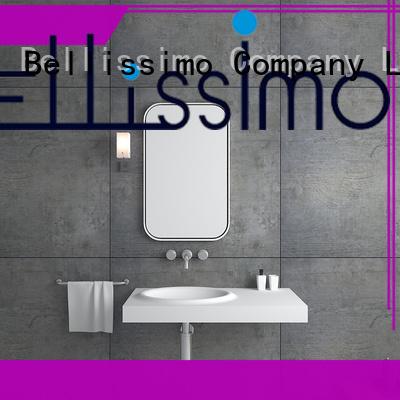 Bellissimo black marble vessel sink manufacturer for home