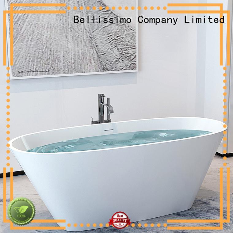 oval acrylic solid surface bathtub design Bellissimo
