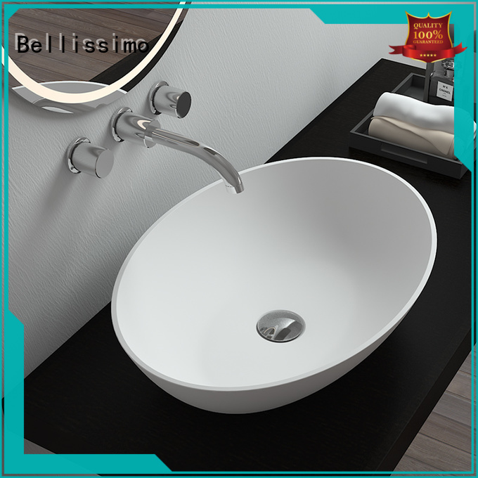 Bellissimo square round wash basin stand design for bathroom