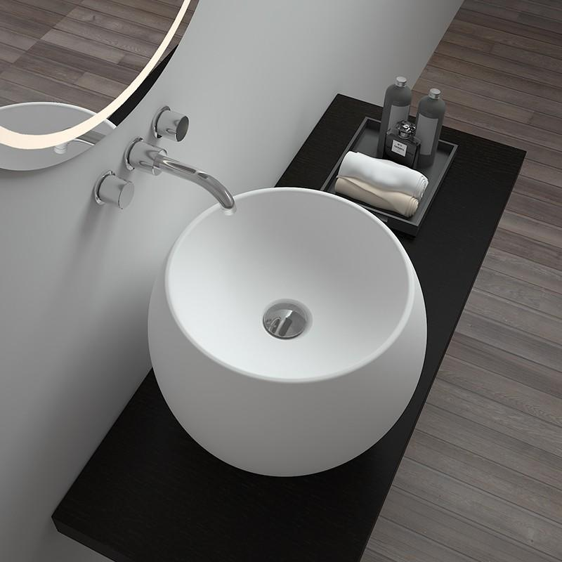 Bellissimo-Solid Surface Resin Stone Counter Top Basin Bs-8331 | Counter Top Basin Company
