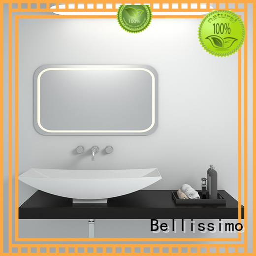 Bellissimo Brand rectangle solid surface wash basin colorful factory