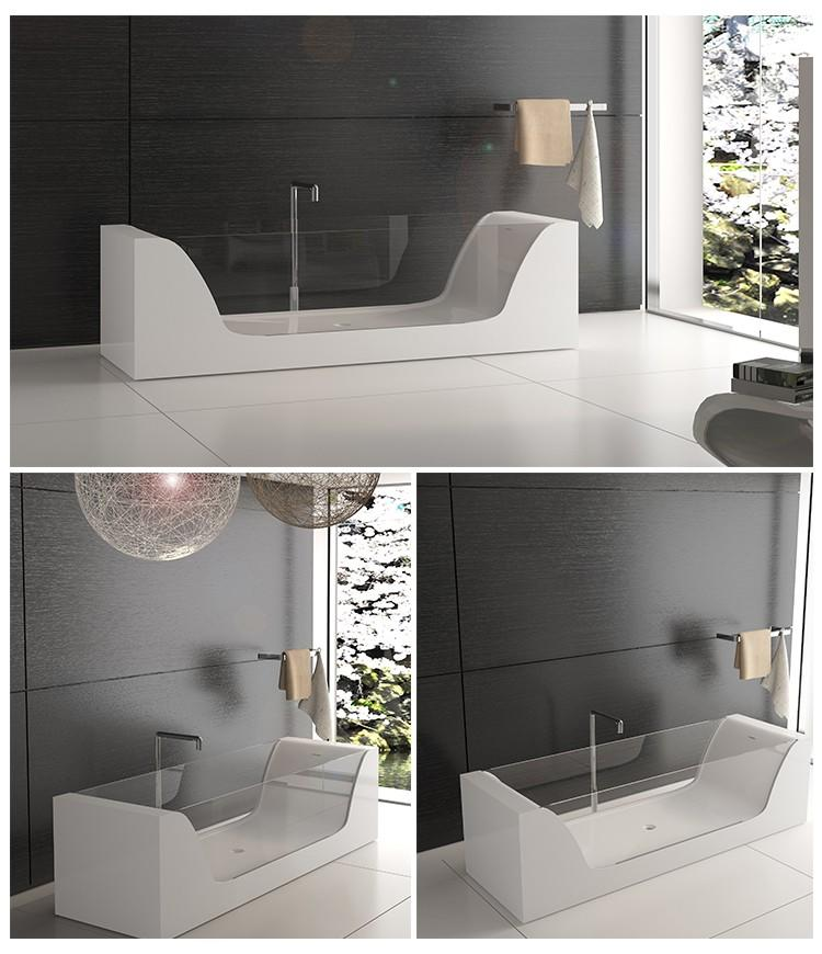 Bellissimo-Best Solid Surface Resin Stone Bathtub Bs-8647 Manufacture-2