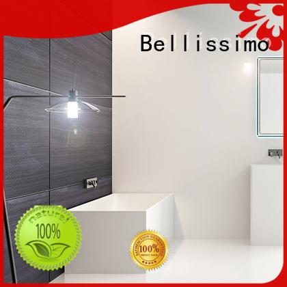 deep bs8609 solid surface bathtub oval Bellissimo company