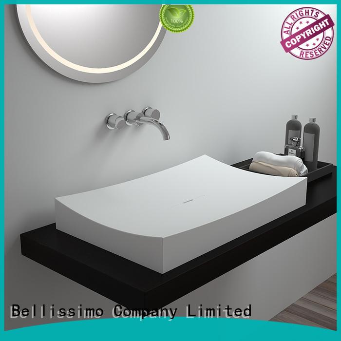 style hand edge unique countertop basin Bellissimo Brand