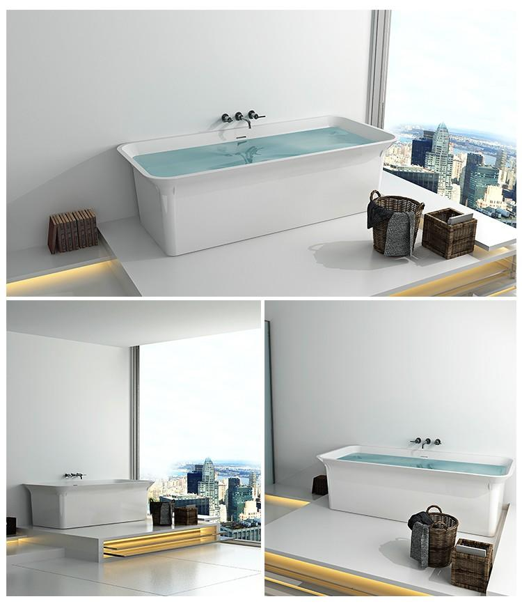 Bellissimo-Solid Surface Resin Stone Bathtub Bs-8630   Solid Surface Bathtub   Bellissimo-2