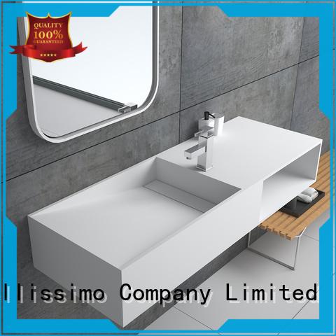 Bellissimo unique granite bird bath with towel shelf for bathroom