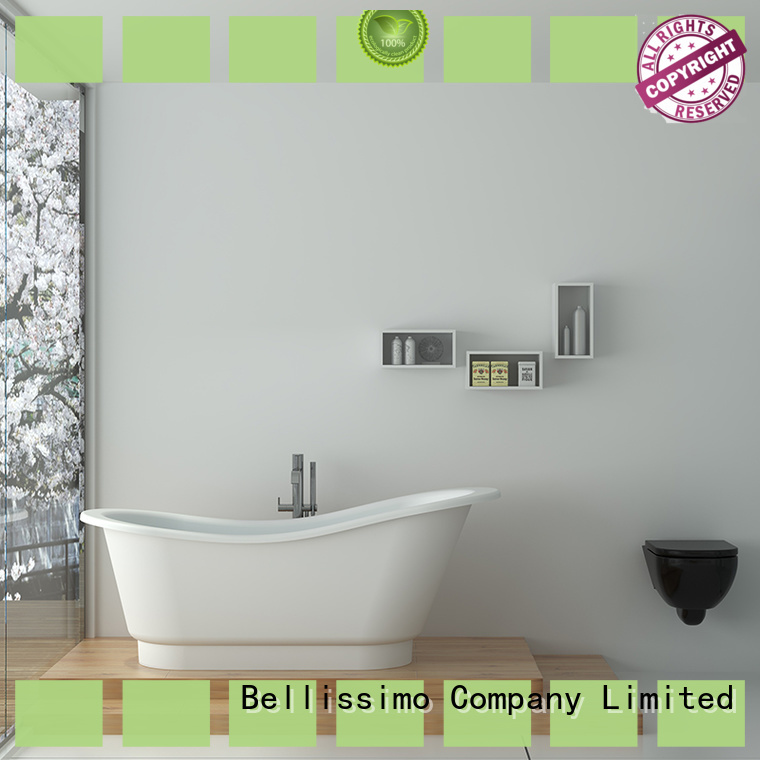 custom solid round bathtub with faucet wholesale