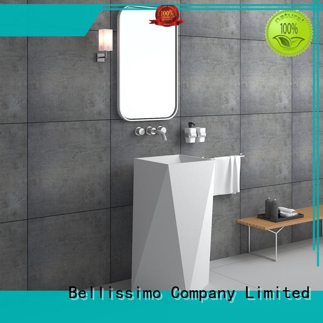 Bellissimo Brand wash stone design custom freestanding bathroom basin