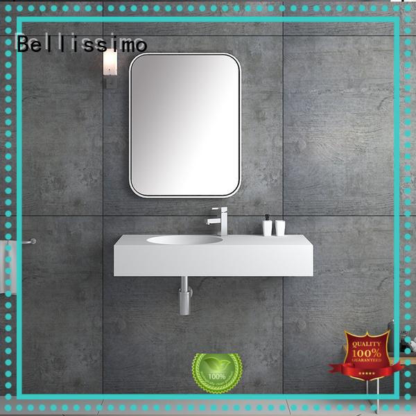 small wall mount bathroom sink modern resin Warranty Bellissimo