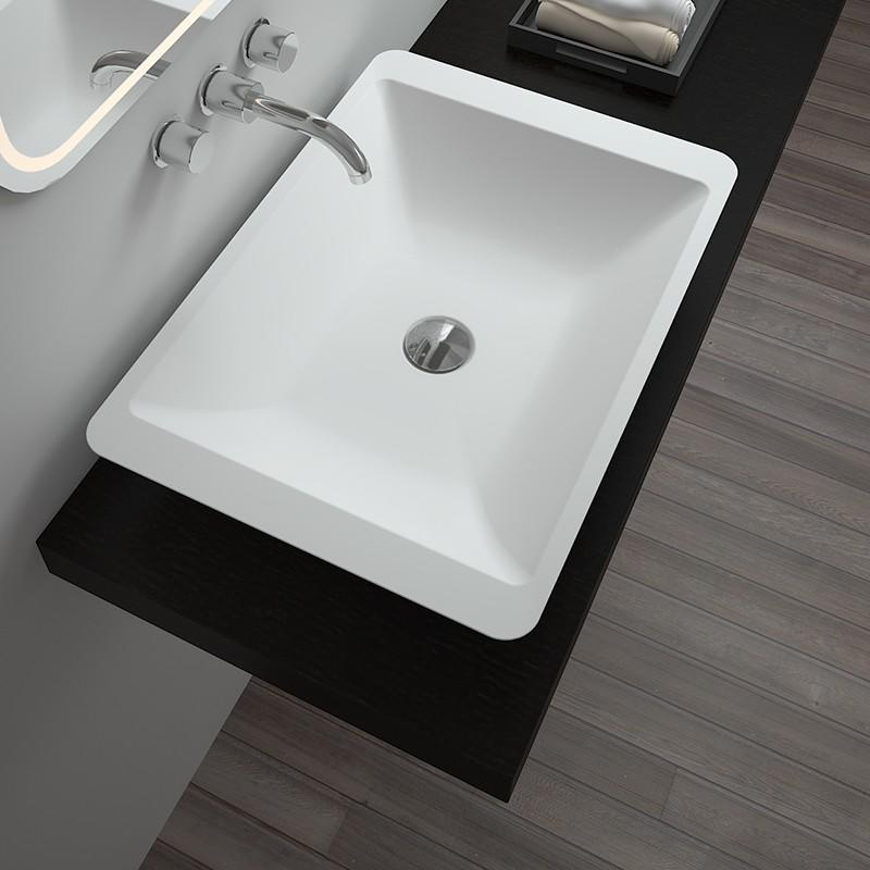 Bellissimo-Find Solid Surface Resin Stone Counter Top Basin Bs-8324 | Manufacture