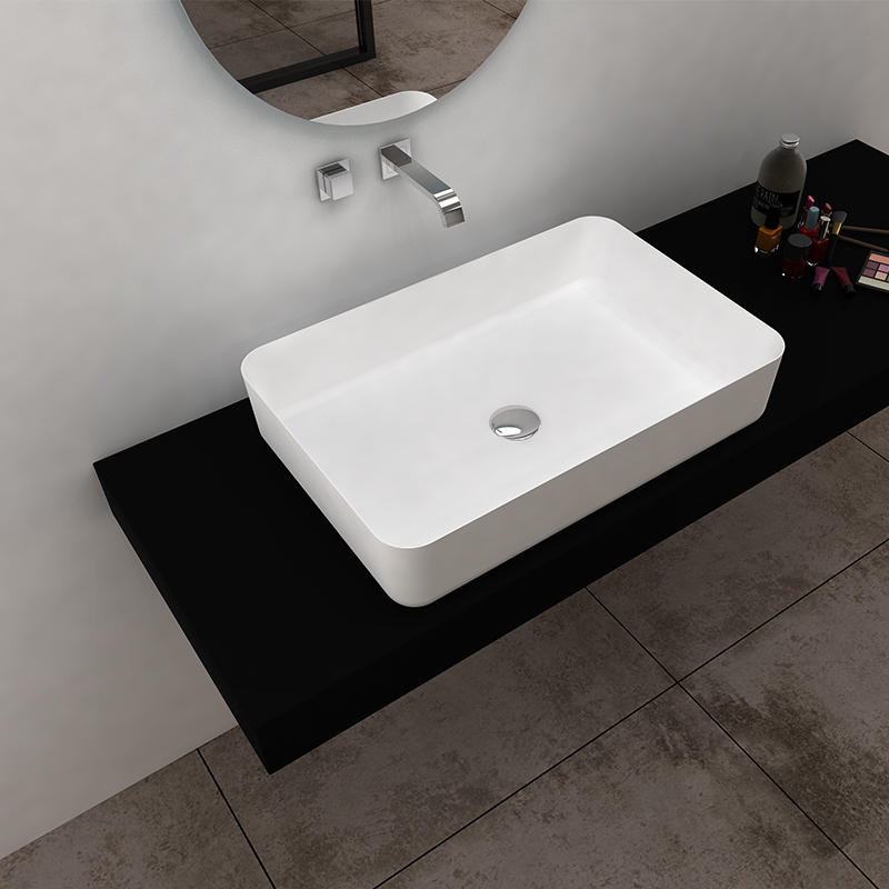 Bellissimo-Solid Surface Resin Stone Counter Top Basin Bs-8349 | Solid Surface Countertop