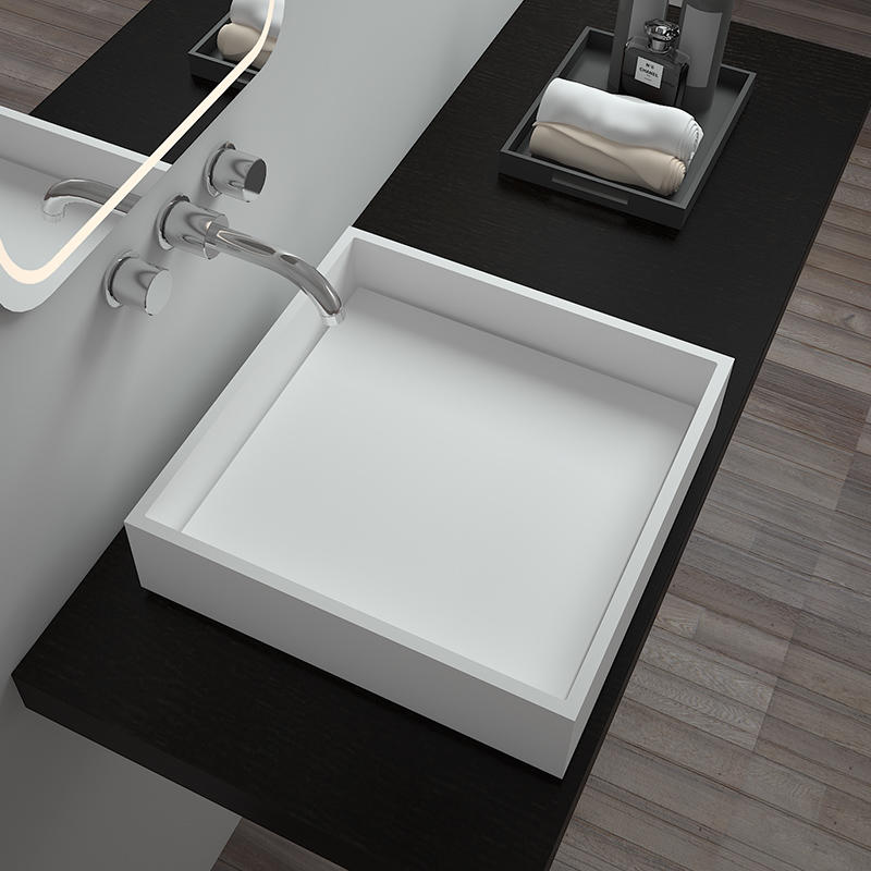 Bellissimo-Solid Surface Resin Stone Counter Top Basin Bs-8336 | Solid Surface Countertop