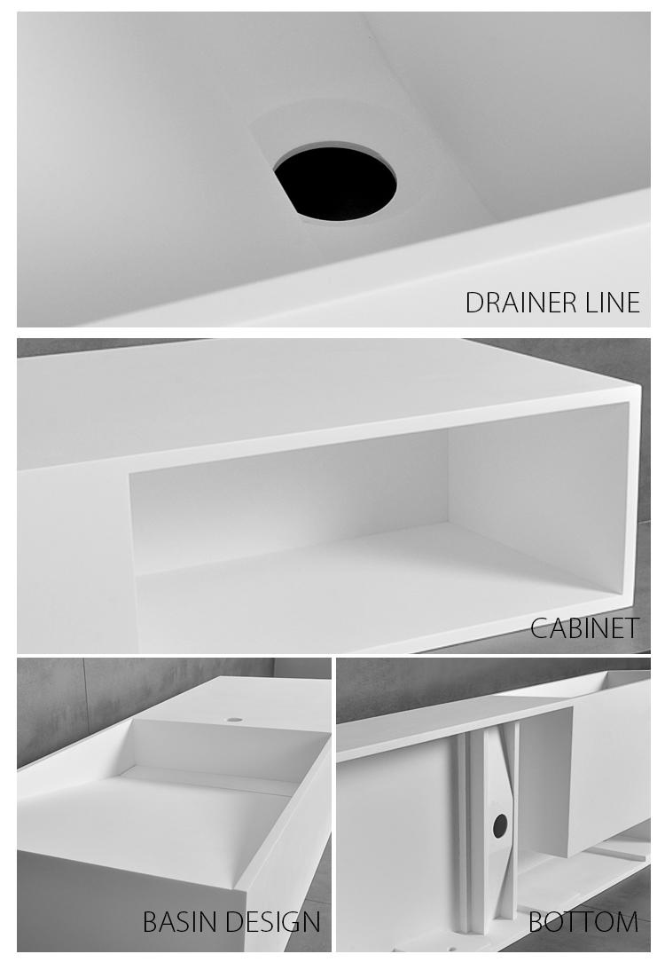 Bellissimo-High-quality Custom Style Floating Bathroom Wall Hung Mounted Cabinet Stone-2