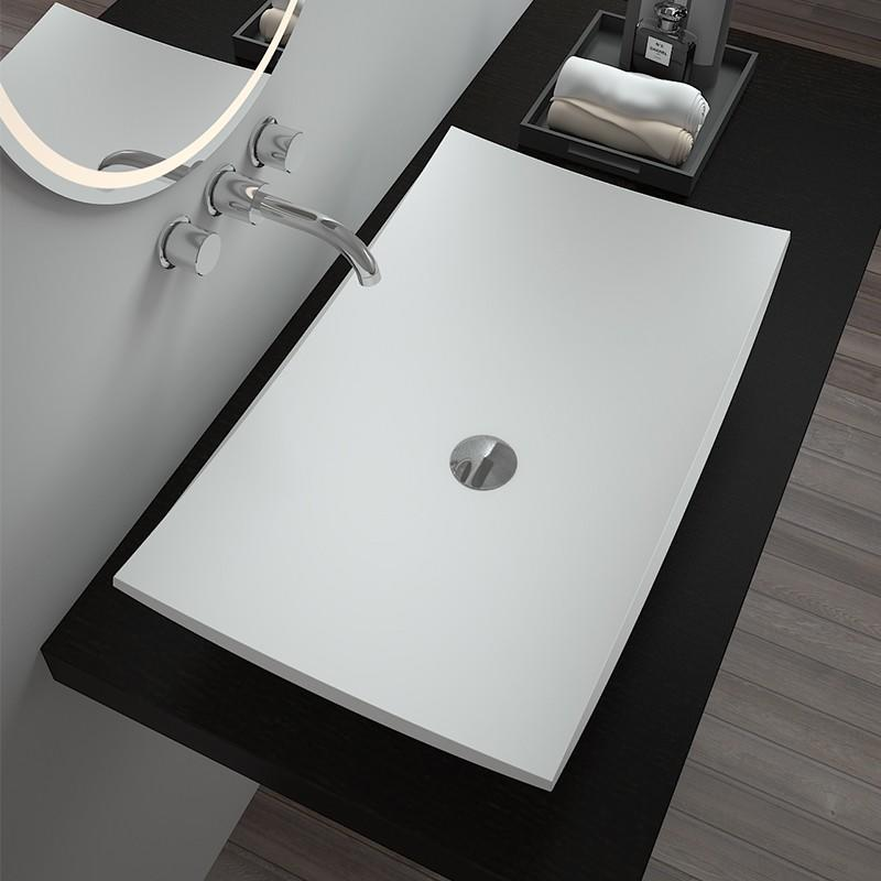 Bellissimo-Solid Surface Resin Stone Counter Top Basin Bs-8321 | Solid Surface Countertop