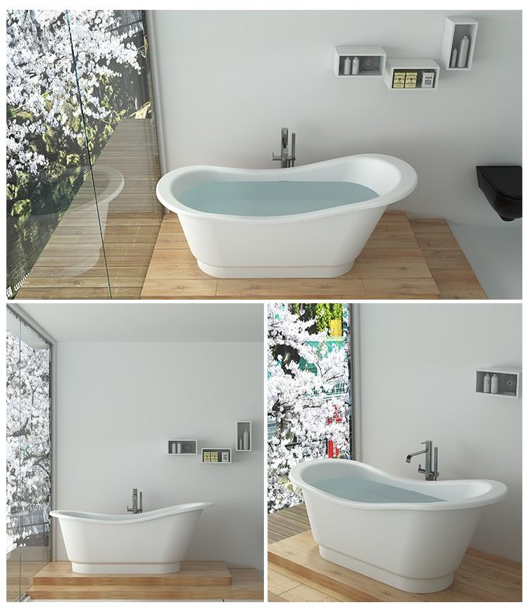 Bellissimo-Professional Solid Surface Resin Stone Bathtub Bs-8645 Supplier-2