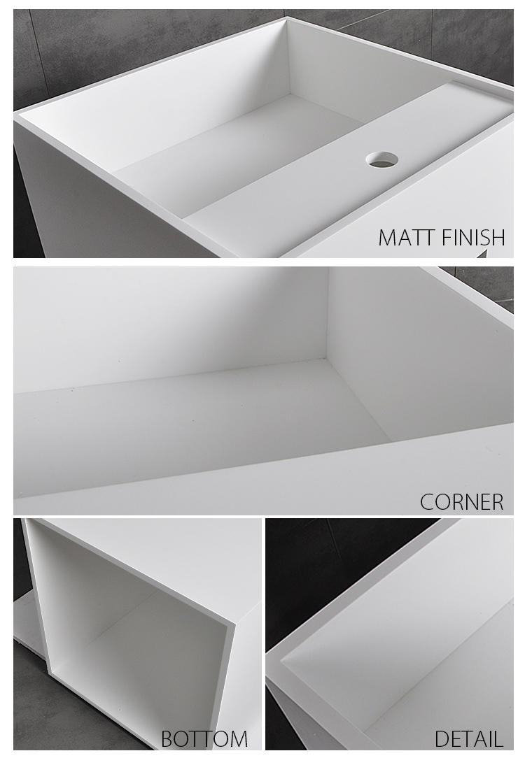 Bellissimo-Best Free Standing Sink Rectangular Shaped Commercial Design Bathroom Freestanding