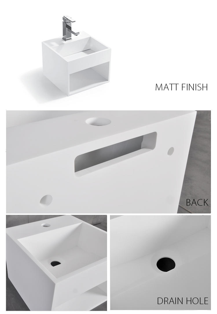Bellissimo-Solid Surface Resin Stone Wall Mounted Basin Bs-8414 | Solid Surface Wall-2