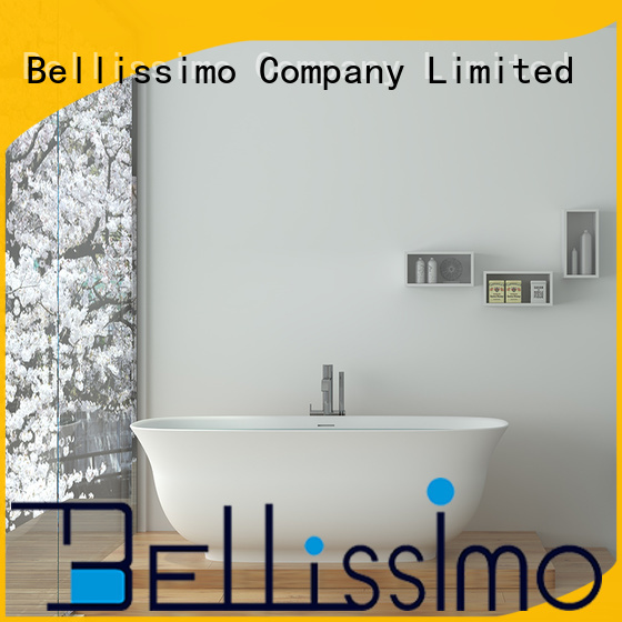 Bellissimo elegant bathtubs suppliers with special skirt stone for bathroom