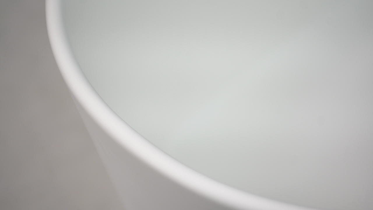 Bellissimo-Curve Edge Shaped Freestanding Solid Surface Composite Resin Stone Bathroom