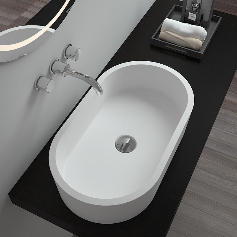 Bellissimo-Find Stone Counter Top Basin Artificial Stone Bathroom Counter Top Oval