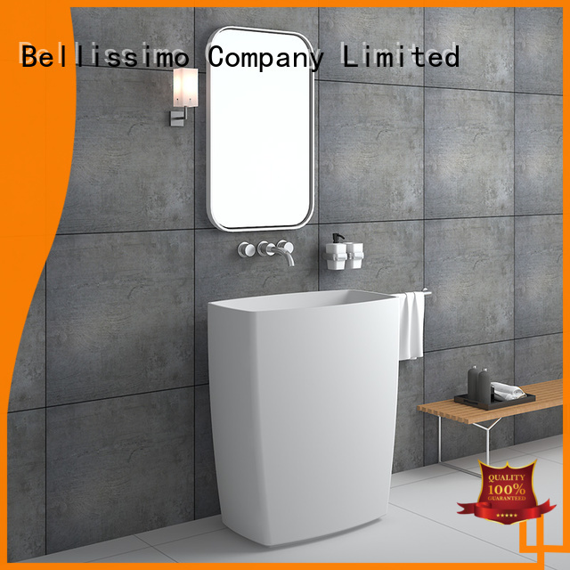 commercial stand alone sink customization for bathroom