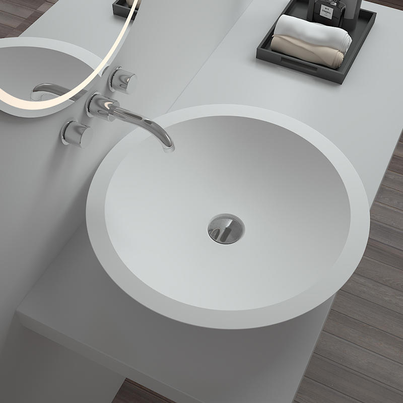 Bellissimo-Best Solid Surface Resin Stone Counter Top Basin Bs-8313 Manufacture