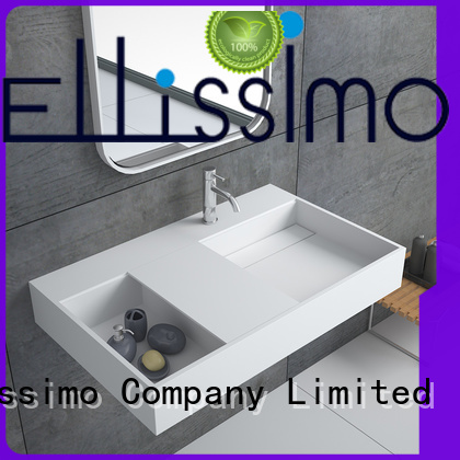 Bellissimo small wall mount sink cast for bathroom