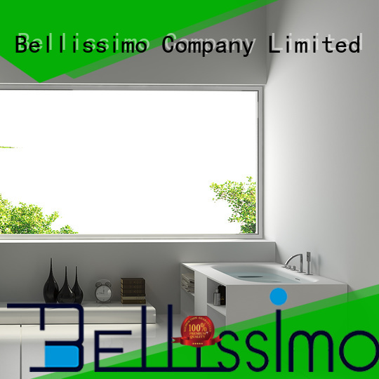 Bellissimo stand alone solid surface sheets design for bathroom
