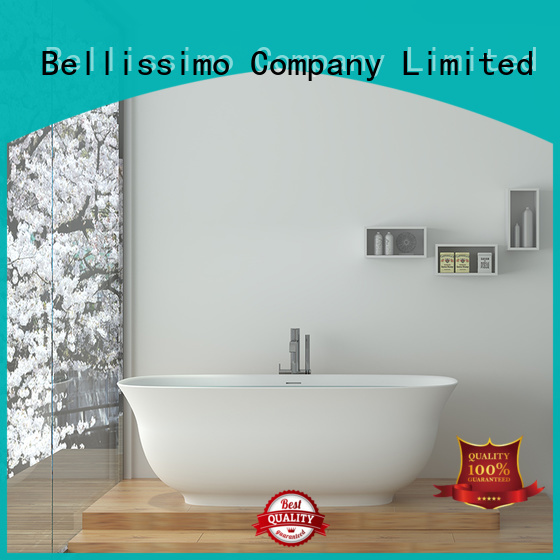 Bellissimo custom solid stainless steel bathtub with faucet wholesale