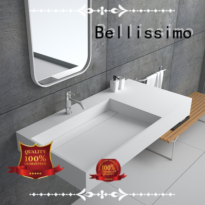 Bellissimo Brand artificial yacht stone wall mounted wash basins manufacture
