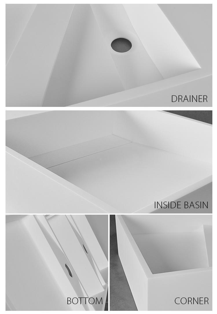 Bellissimo-High-quality Solid Surface Resin Stone Wall Mounted Basin Bs-8412 Factory-2