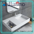 bs8425 artificial wall mounted wash basins stone Bellissimo Brand company