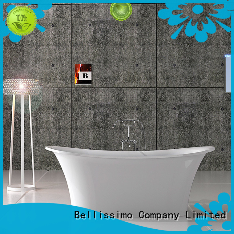 Hot artificial solid surface bathtub solid freestanding Bellissimo Brand